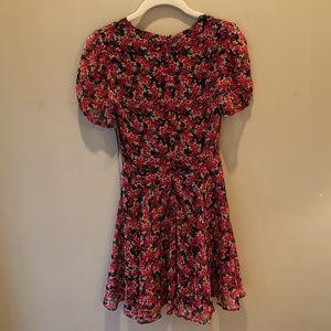NWT Zara Trafaluc Red Floral Dress